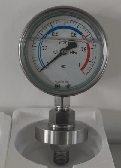 不锈钢膜片压力表?>