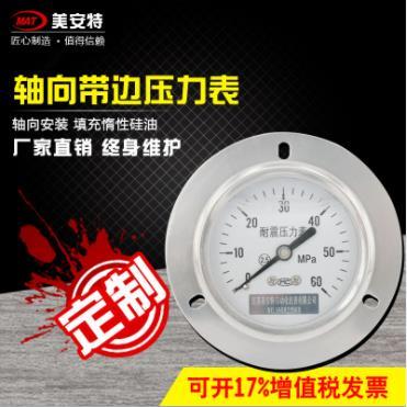 Y-60ZT轴向带边压力表?>